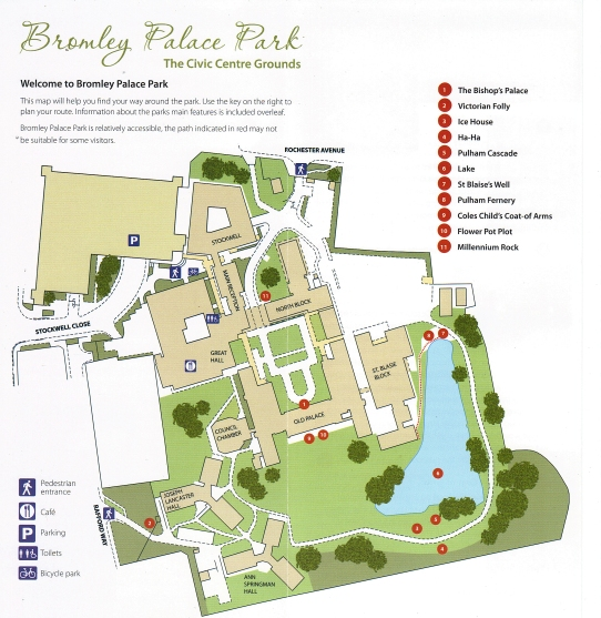 Bromley Palace Park map
