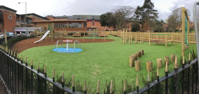 Completed playground, Queens Garden