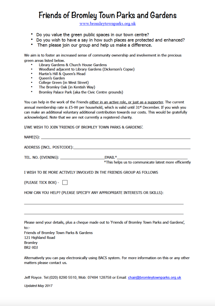 Print off this membership and return as described at bottom of form.